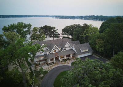 Lakeside Retreat aerial view