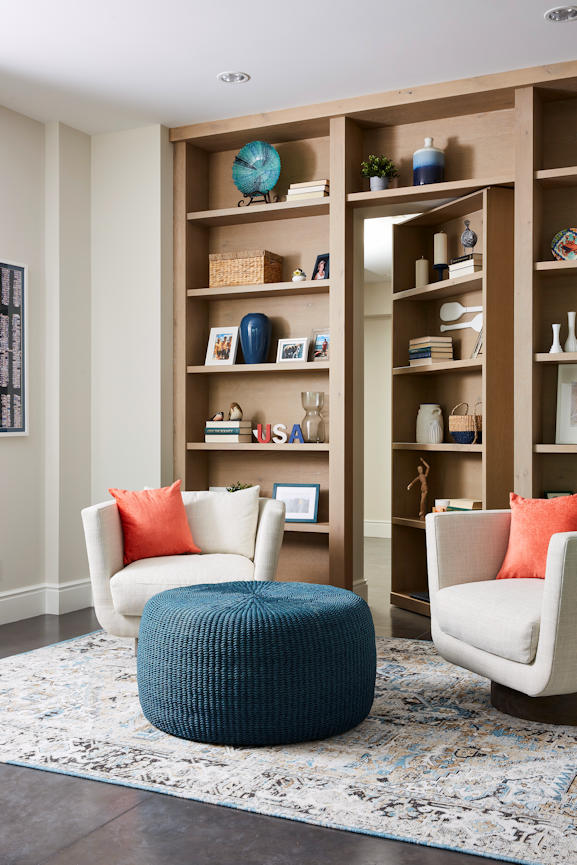 Lakeside Retreat bookcase open