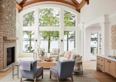 Lakeside Retreat fireside room