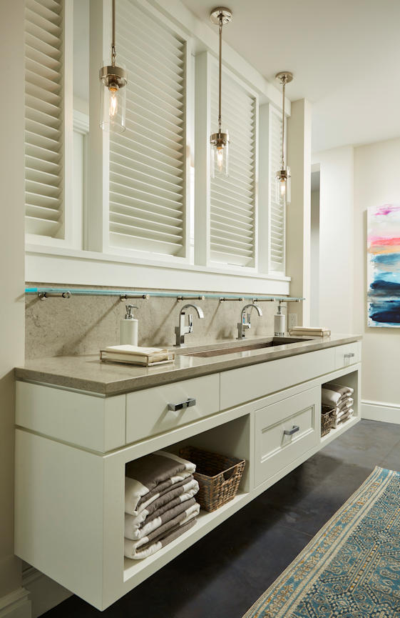 Lakeside Retreat floating bathroom vanity