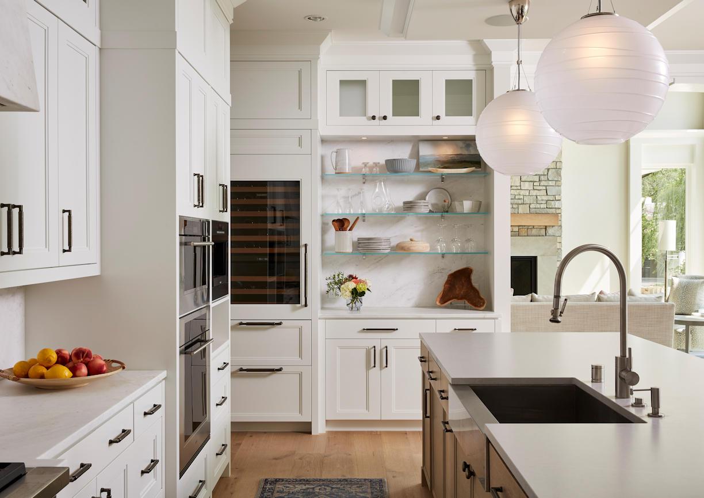 Lakeside Retreat kitchen cabinets