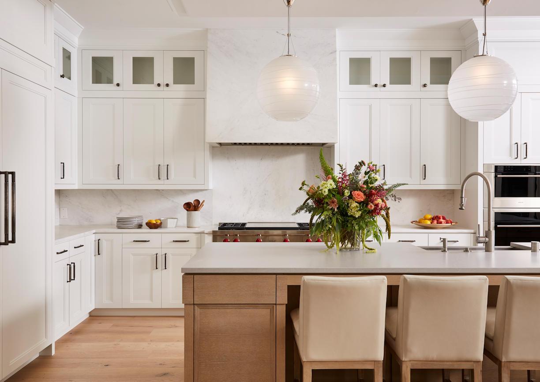 Lakeside Retreat kitchen island